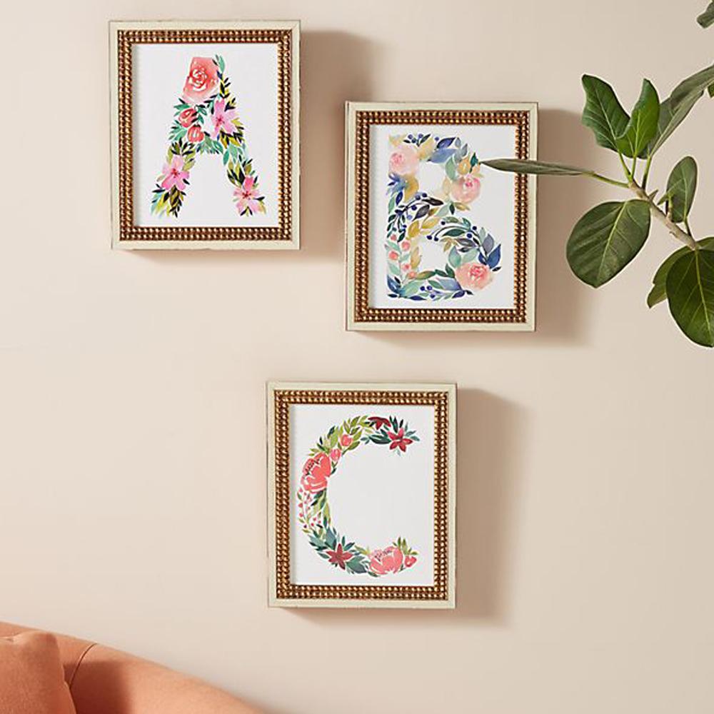Floral Monogram Wall Art