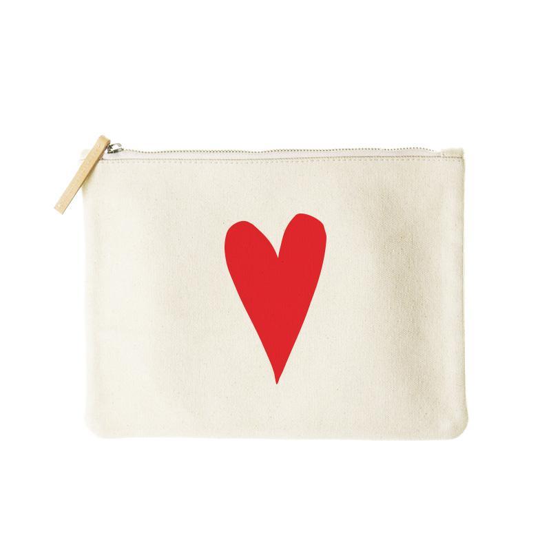 mimi flat clutch- I love you heart
