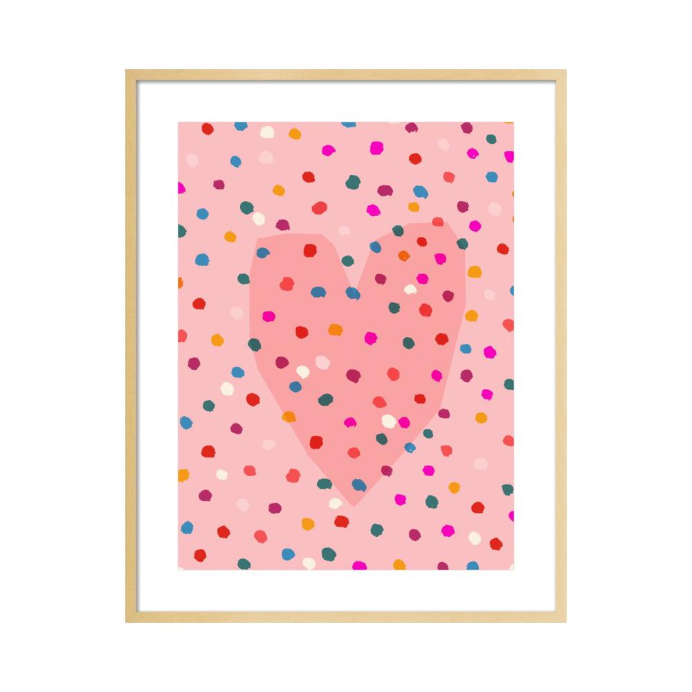 Rainbow Dotty Heart  BY PAULA MILLS