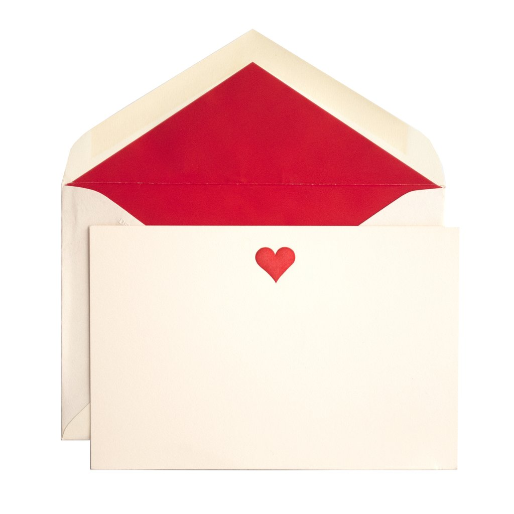 Heart cards and hand-lined envelopes