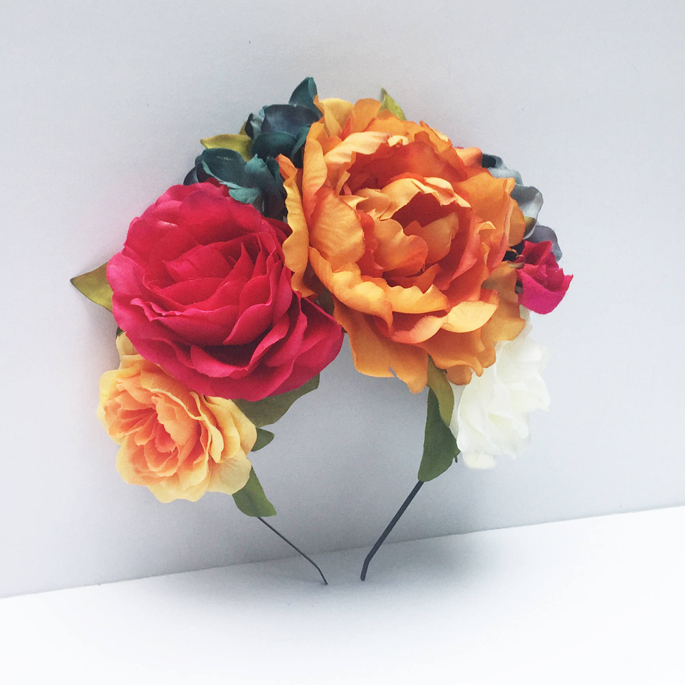 Mexican Flower Headpiece,
