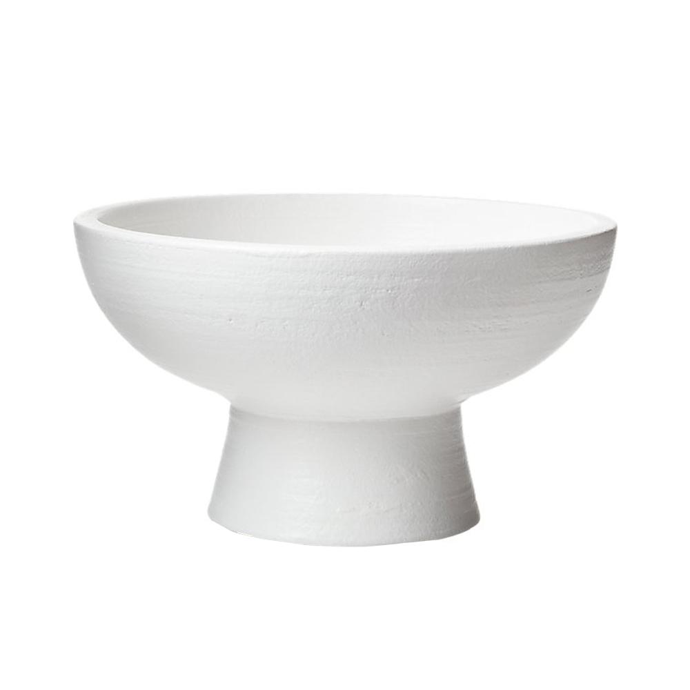 white pedestal bowl