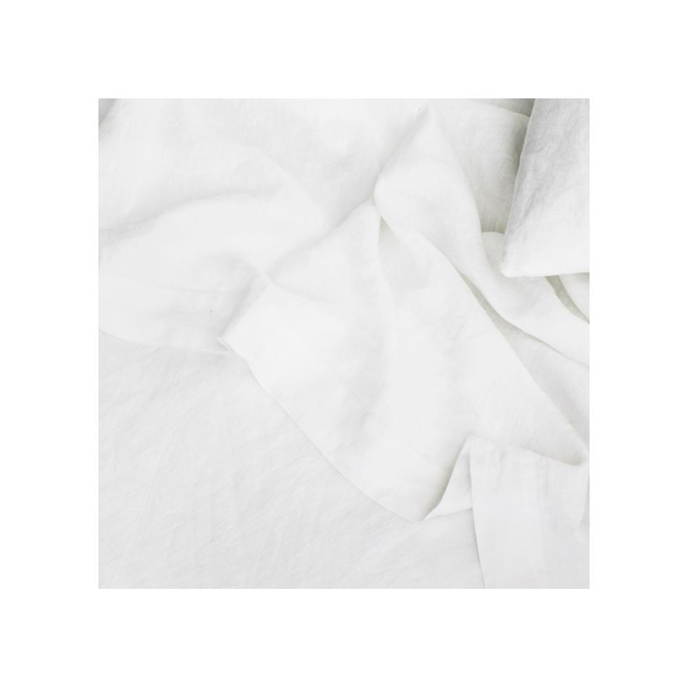 Linen Flat Sheet With Border