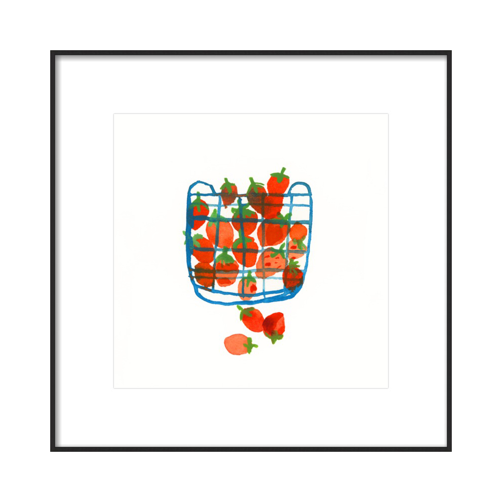 Strawberries in a basket  BY CAROLYN GAVIN