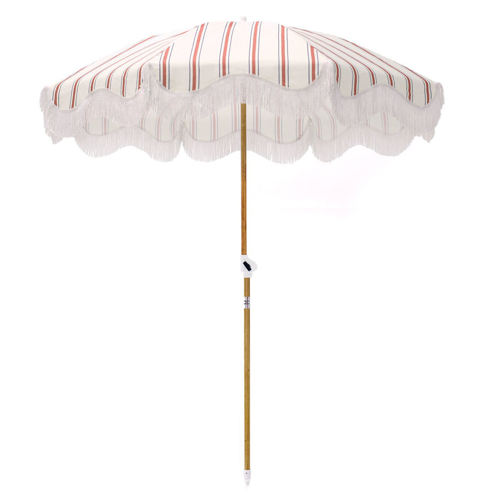 French Stripe Holiday Beach Umbrella