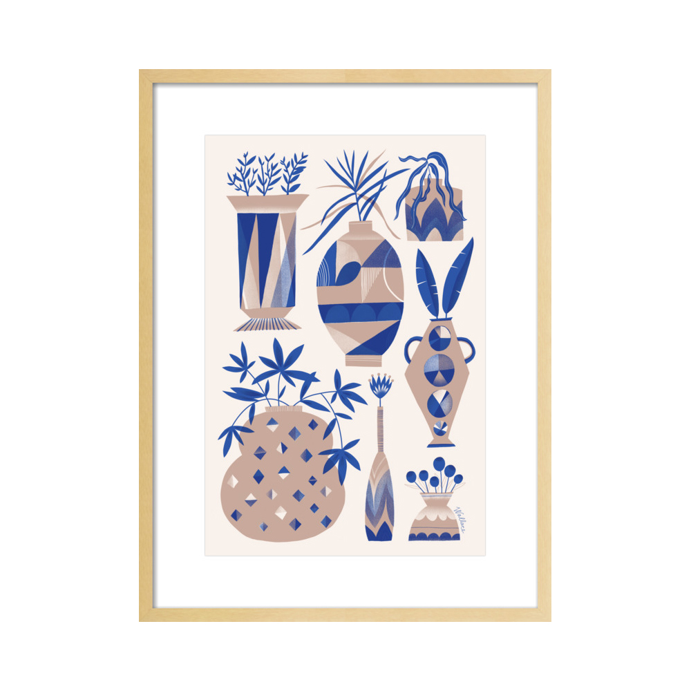 Risograph Vases: suede and cobalt  BY ERIN WALLACE