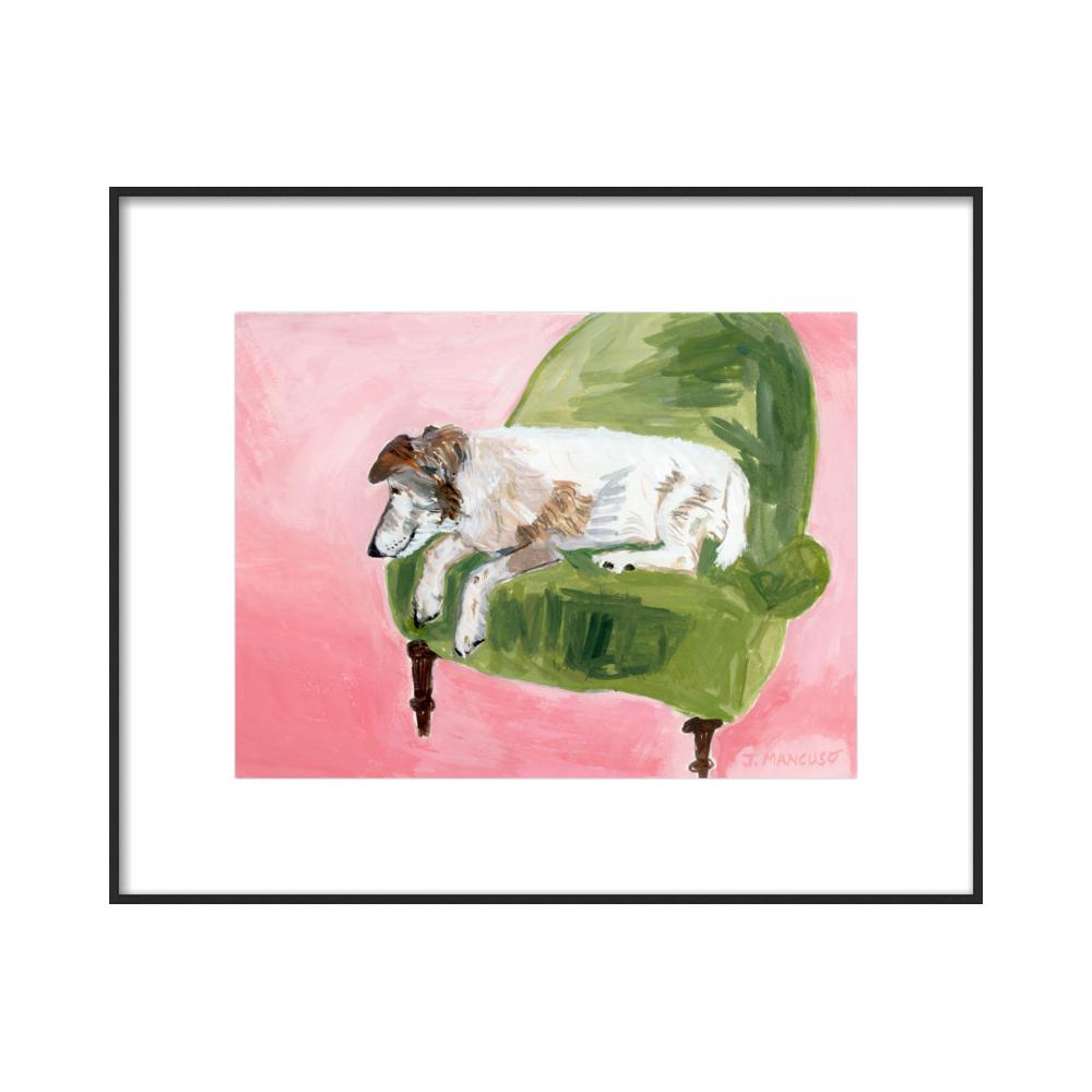 Paris Art Gallery Dog  BY JACKIE MANCUSO