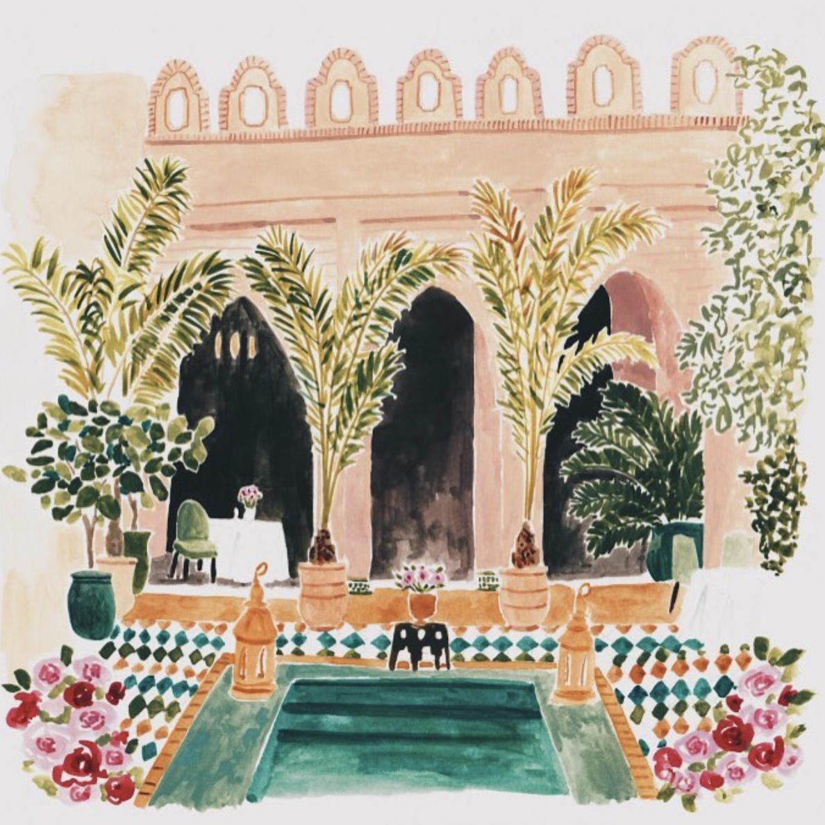 A riad in Marrakech  by Rosie Harbottle.