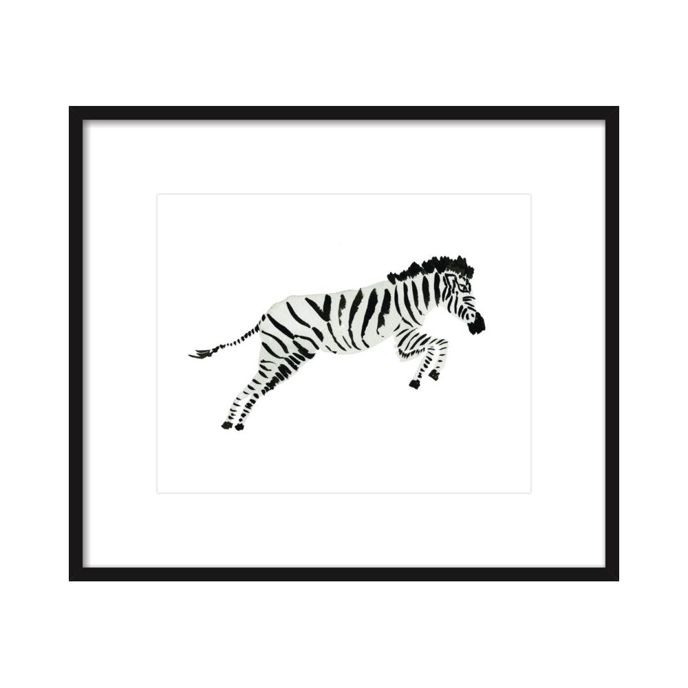 Zebra Leaping  BY JILL DELAVAN