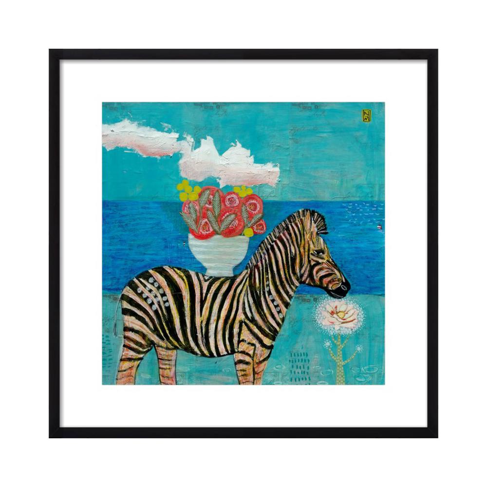 Zebra by the Sea  BY NATHANIEL MATHER