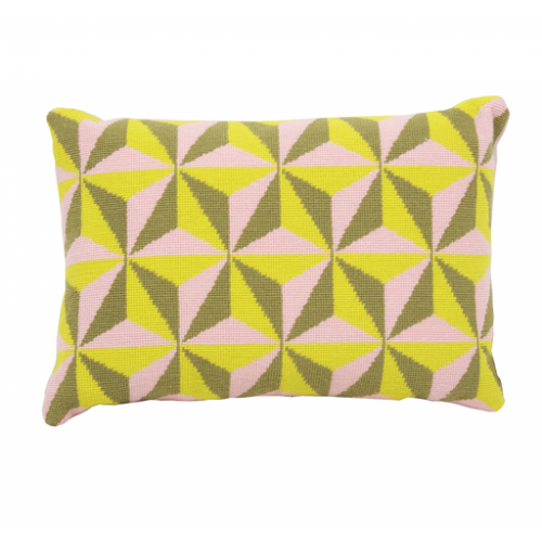 Tetrahedron - Yellow By Fine Cell Work