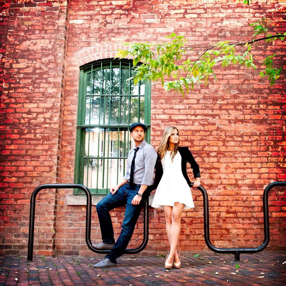 Toronto Distillery District Engagement Portrait