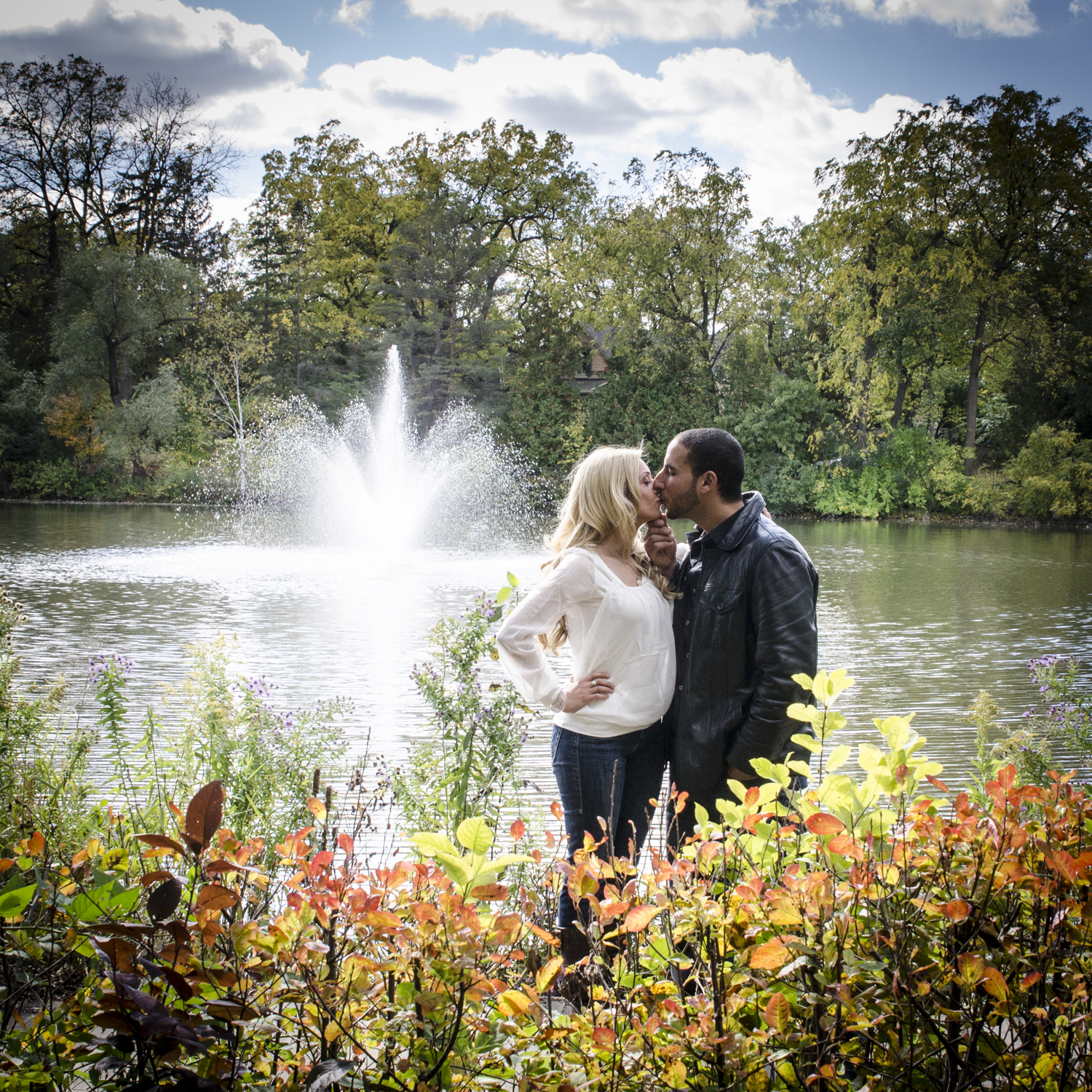Millpond in Richmond Hill Engagement portrait.