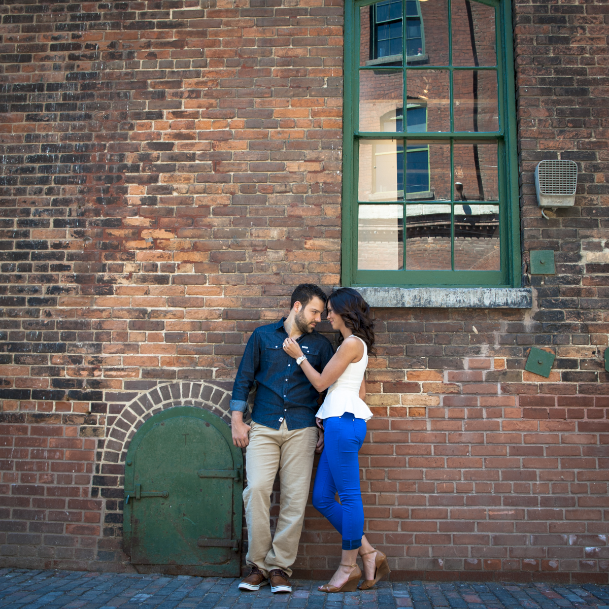 Toronto Distillery District Engagement Portrait