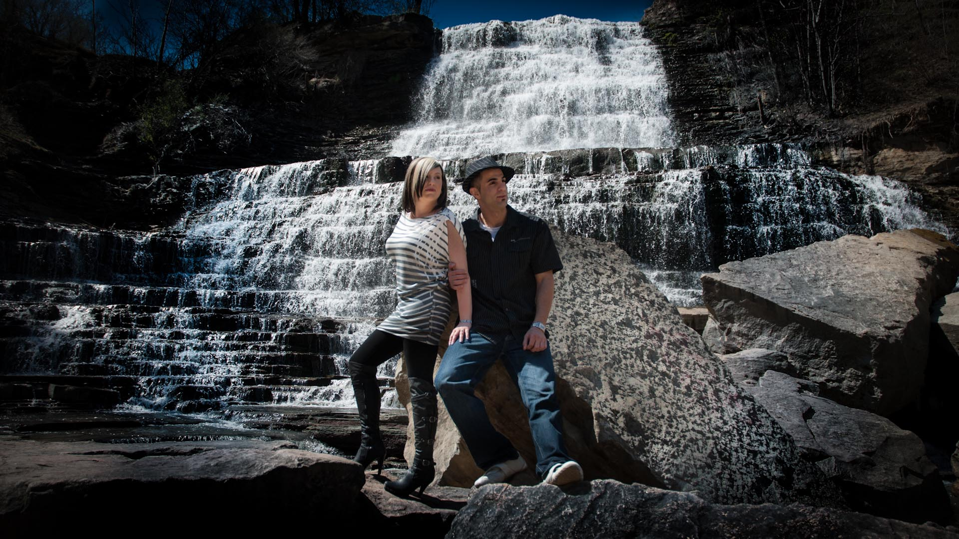 Albion Falls engagement photo