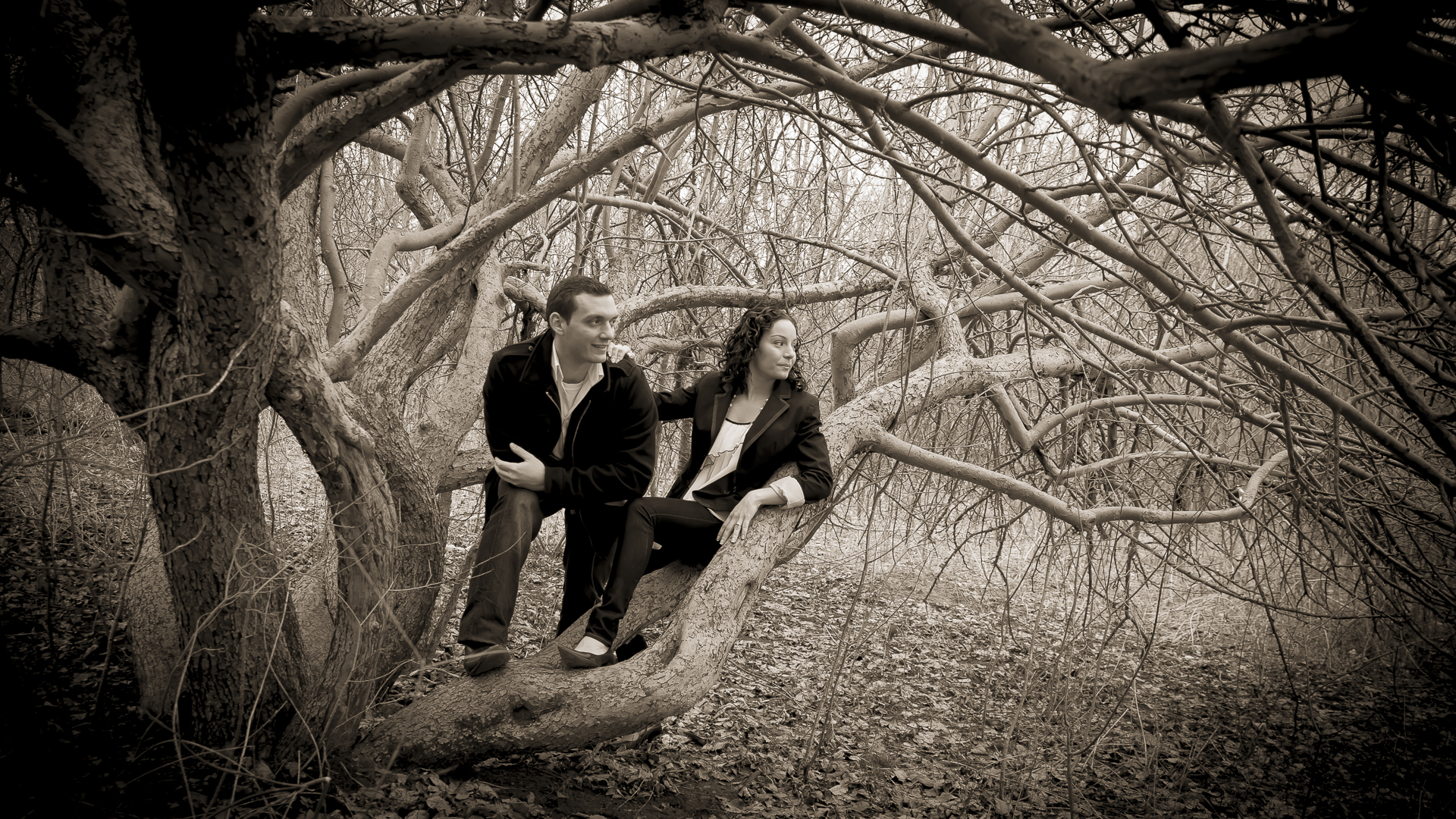 G Ross Lord Park Engagement Photo