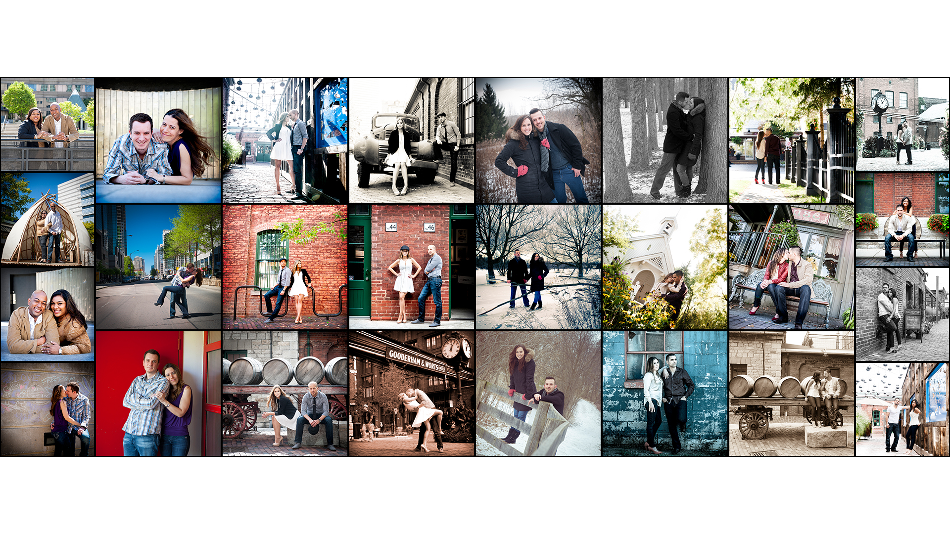 Collage of Toronto Engagement Photos