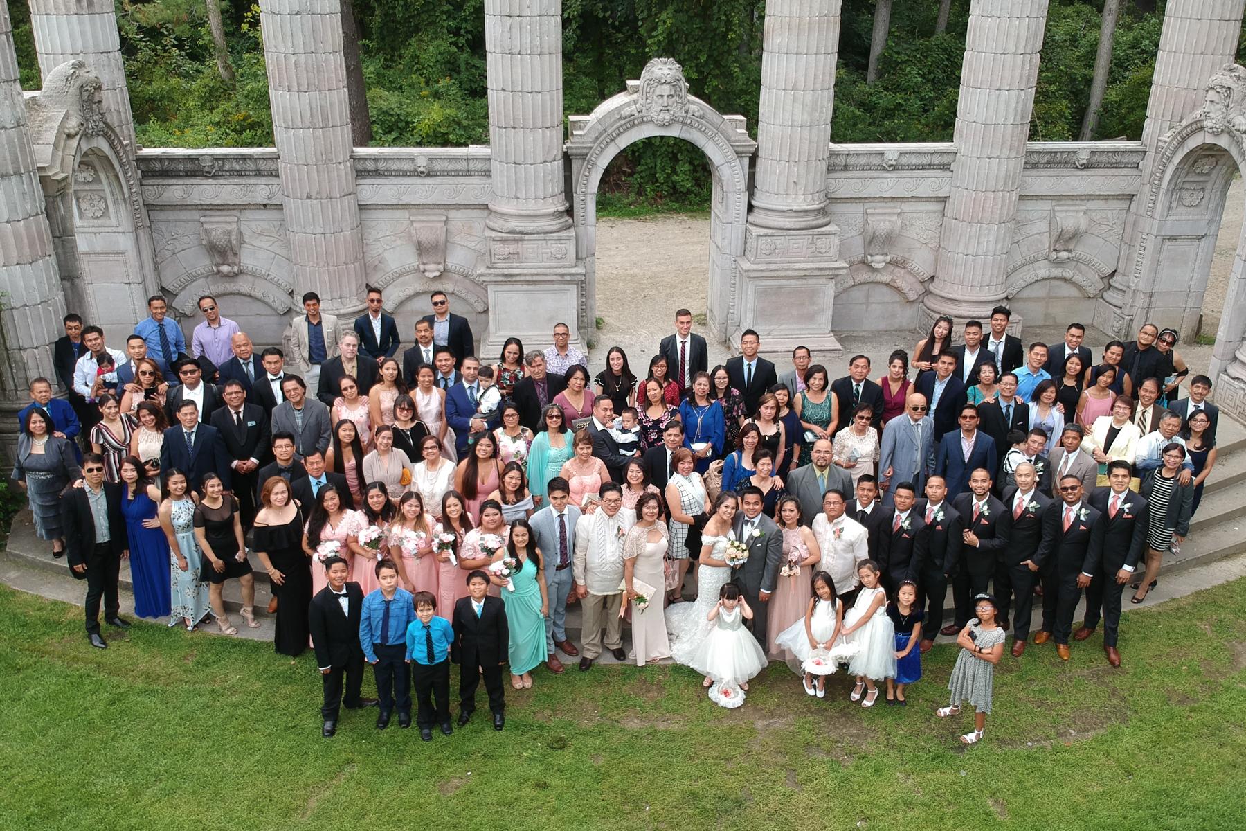 Guild Inn Park, Scarborough Ontario Drone Wedding Photography