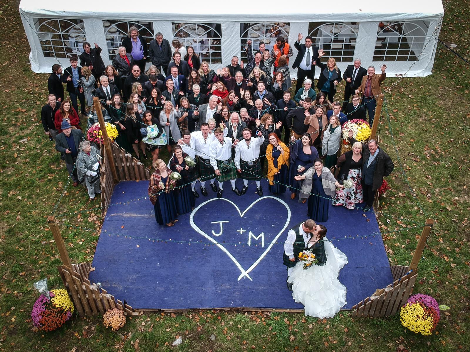 Fall Drone Wedding