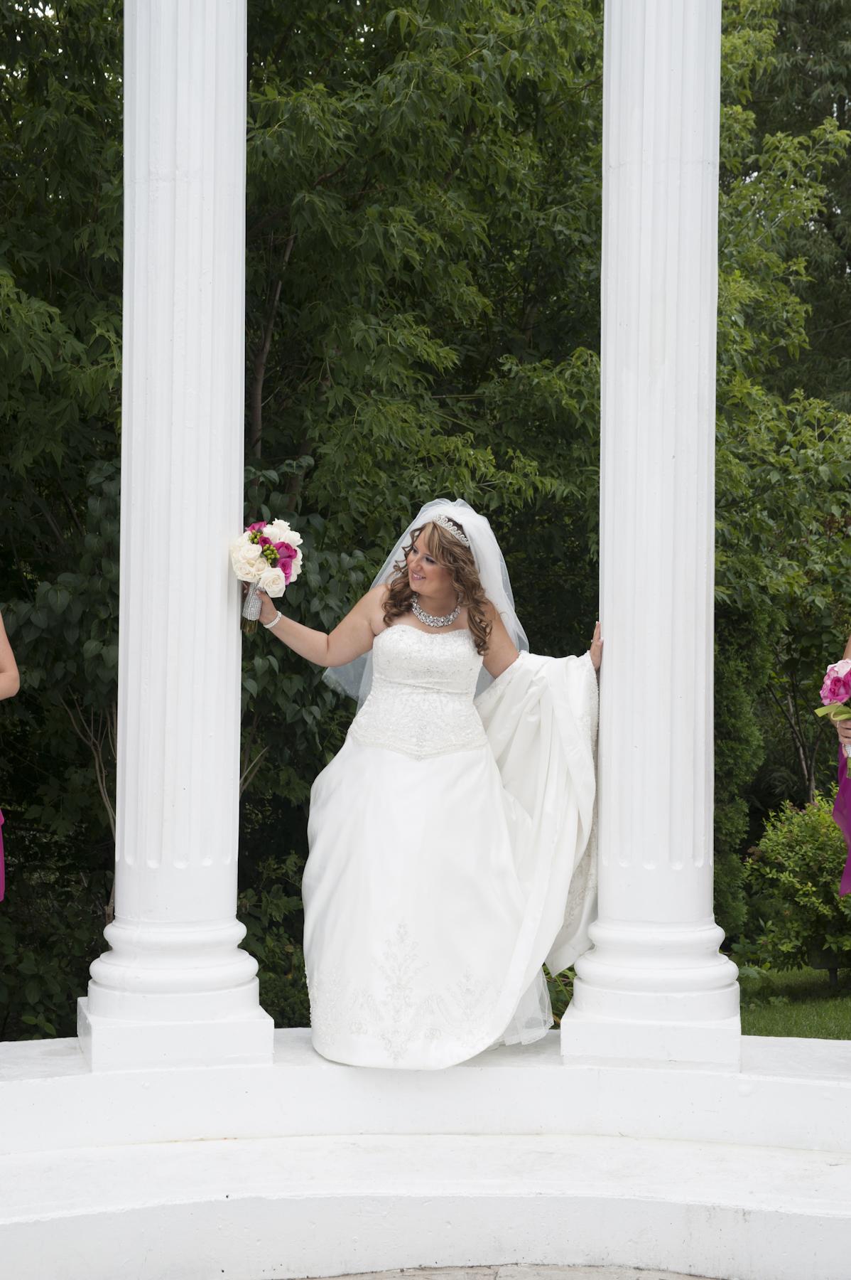 Copy of Copy of Paradise Banquet Hall Bride standing inside atrium