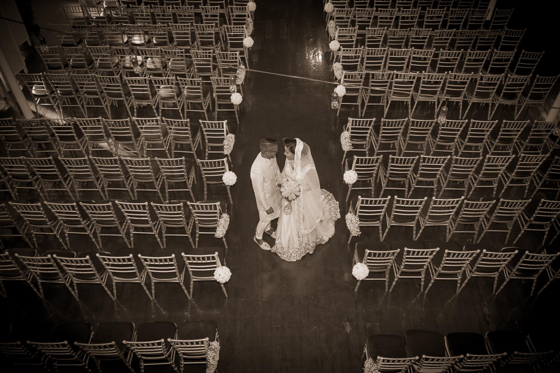 Wedding Portrait at '1871' Berkeley Church Event Venue