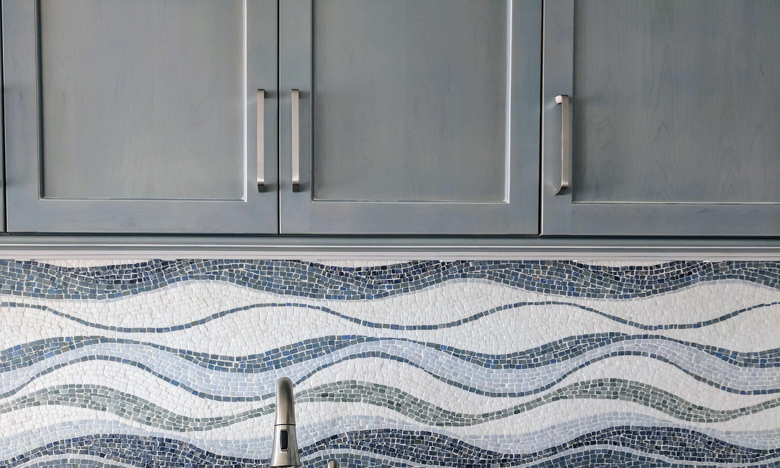 Mosaic Wave Backsplash Install - Design by Urban Cottage