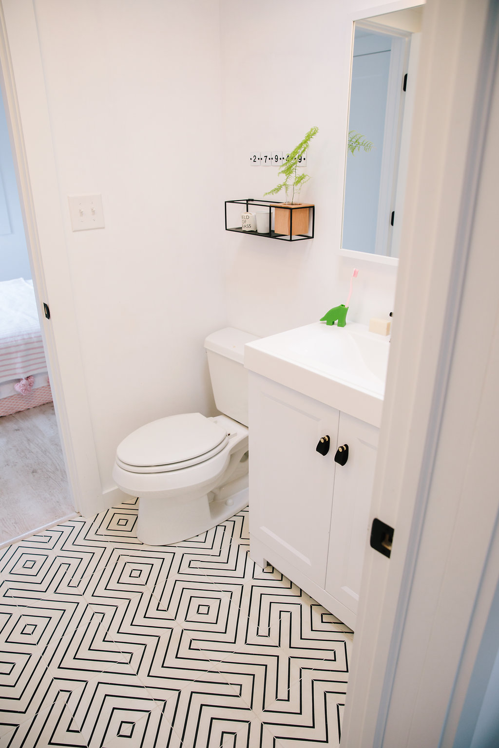 Cement Tile Install - Design by Modern Beach House