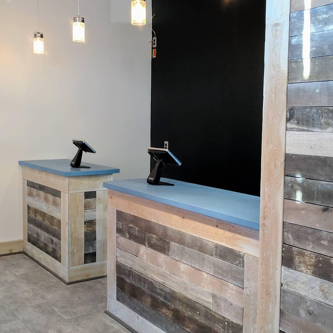 Blue Concrete Countertop - Nags Head Pizza Company, Kitty Hawk, NC
