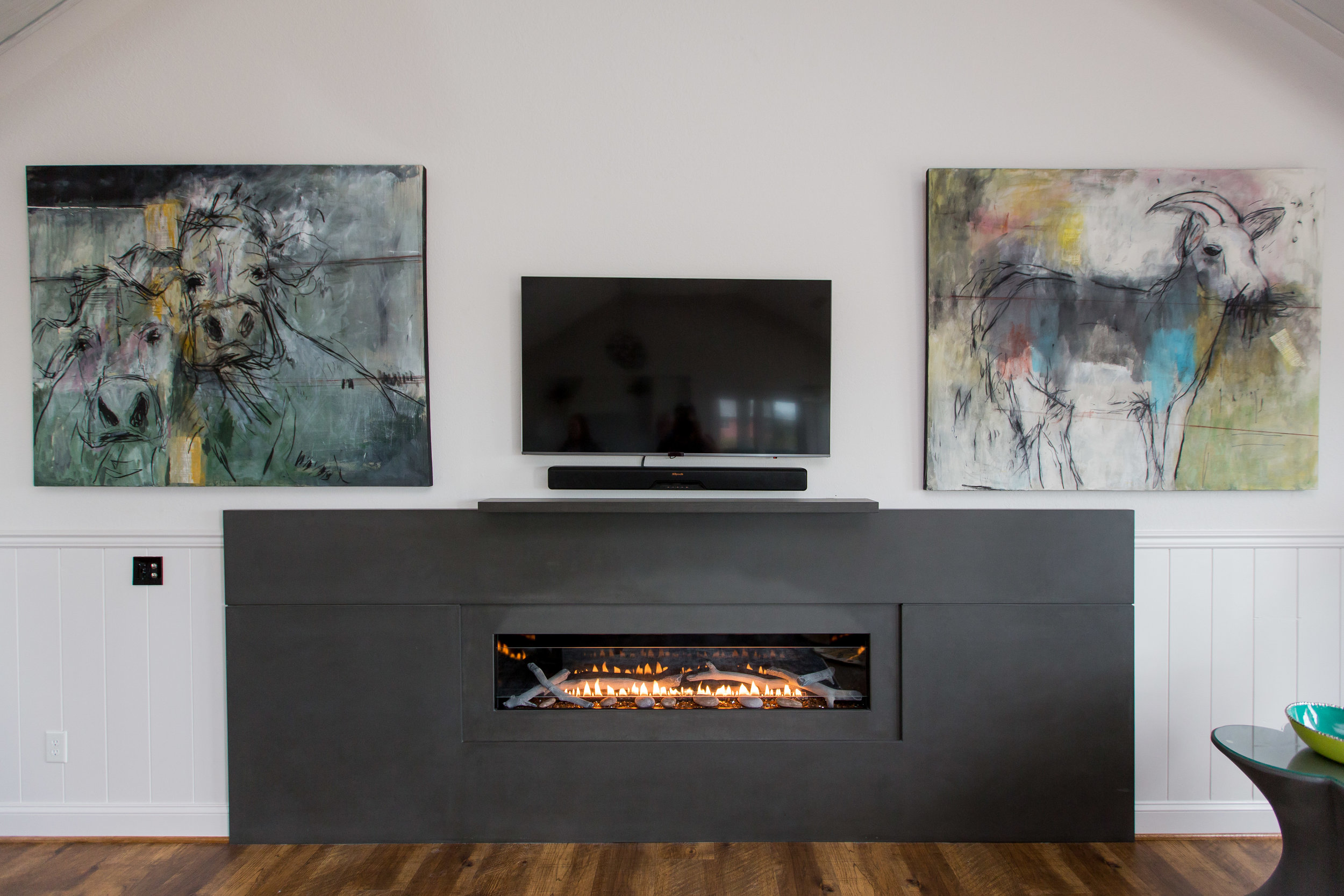 12 Foot Fireplace Surround - Designed by Indehouse Designs
