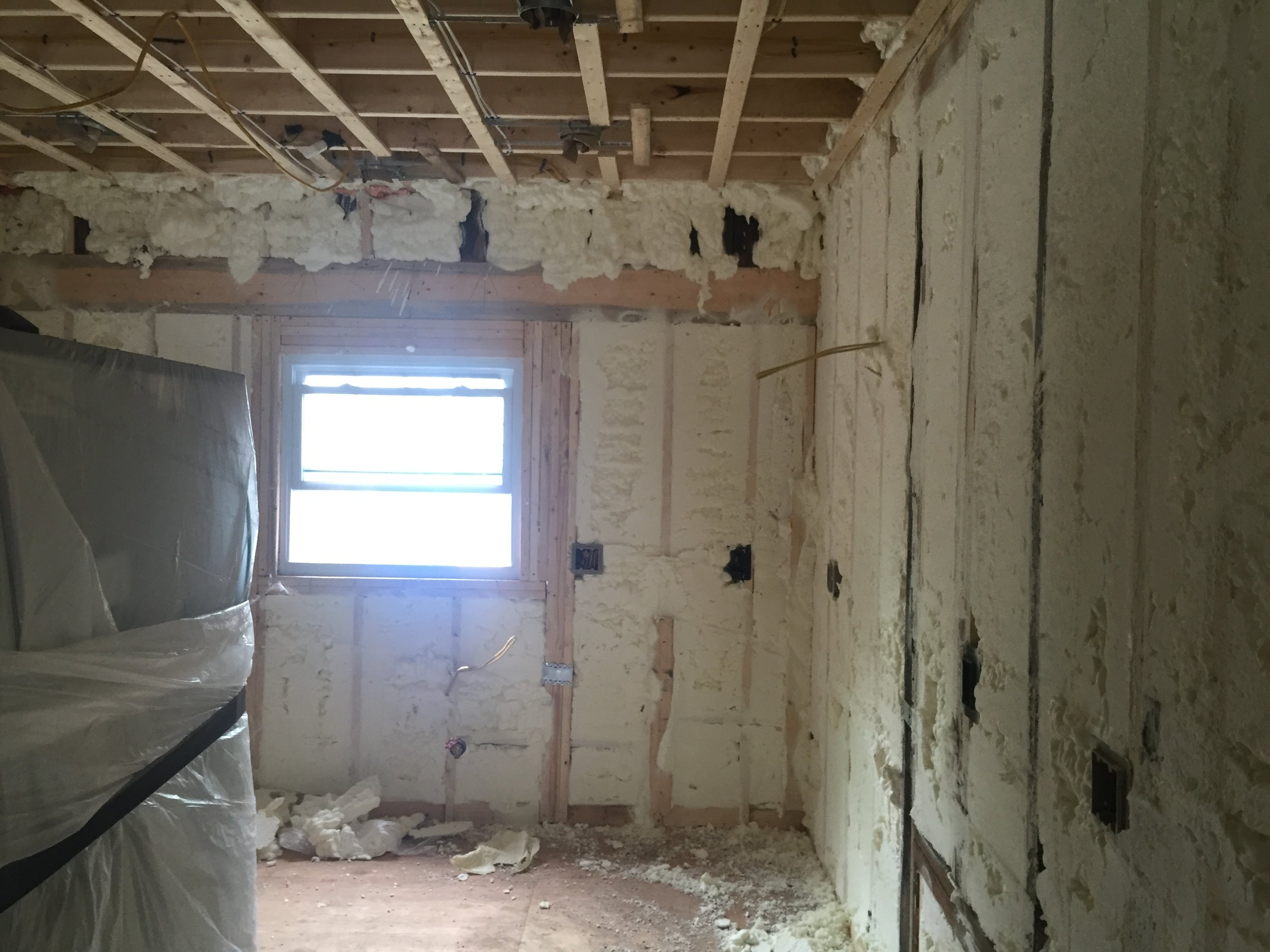 Closed-cell spray foam insulation cuts down energy bills