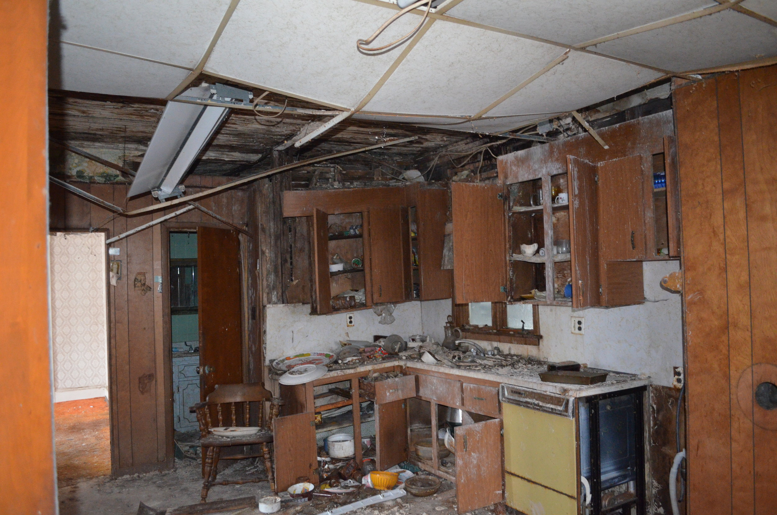 Inside the home, so much had collapsed or decayed that it seemed nature was taking this building back.