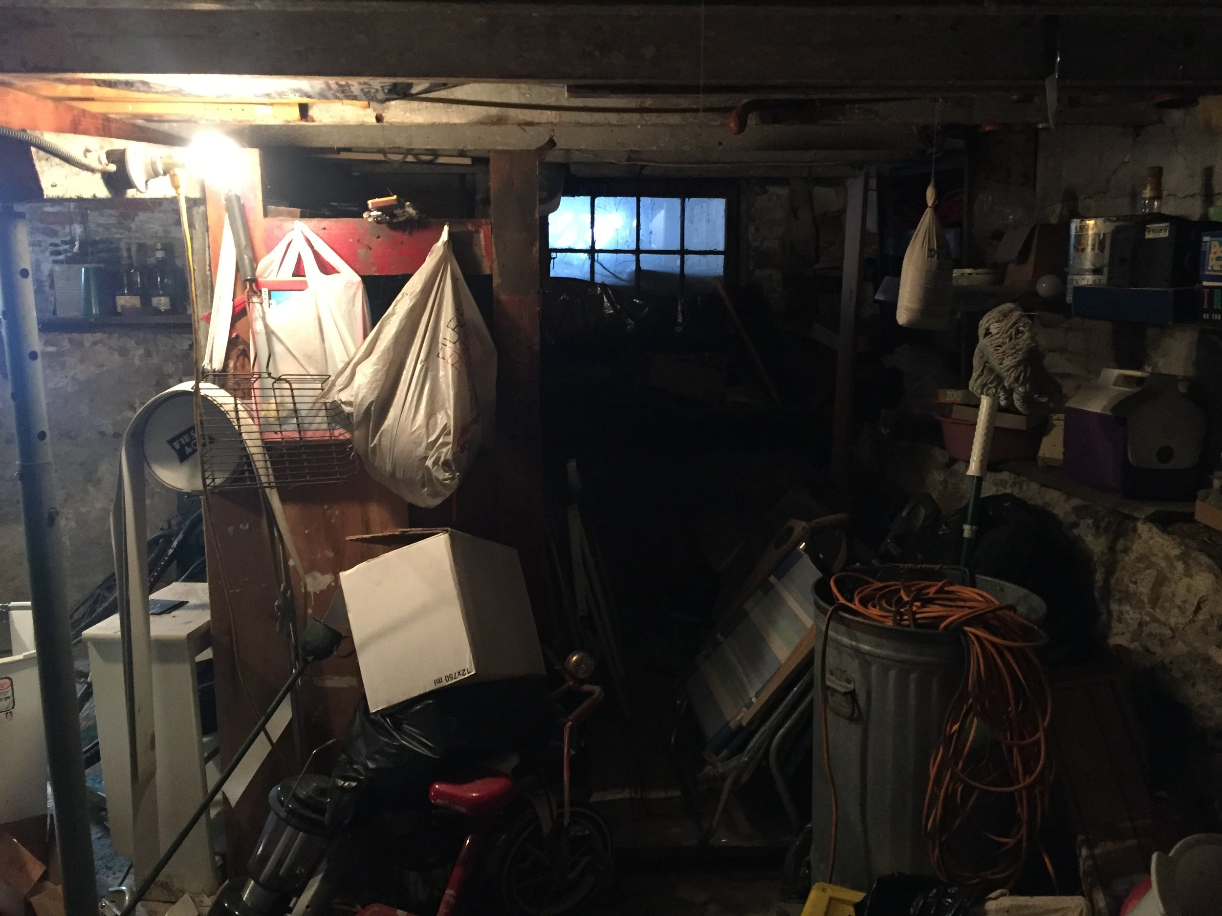 The disorganized basement made it impossible to take advantage of the walk-out into the back yard.