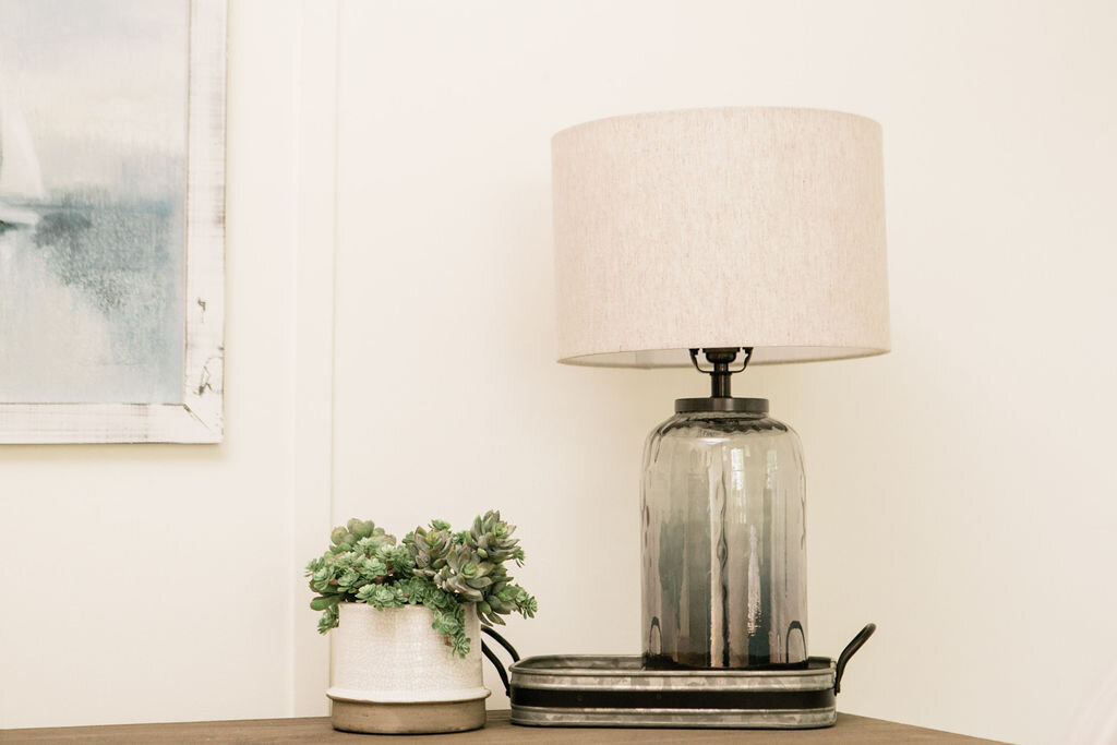 Home decor accents styled during the styling phase of our design process.