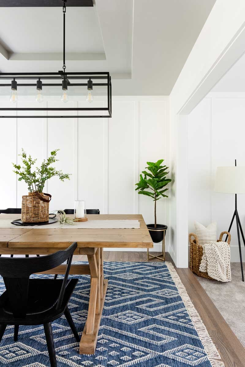 How To Choose The Perfect Dining Room Rug, Dining Room Rugs