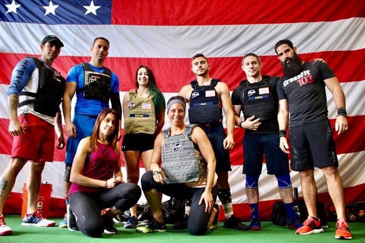 "Finally able to get a good coaches group shot pre ""Murph"""