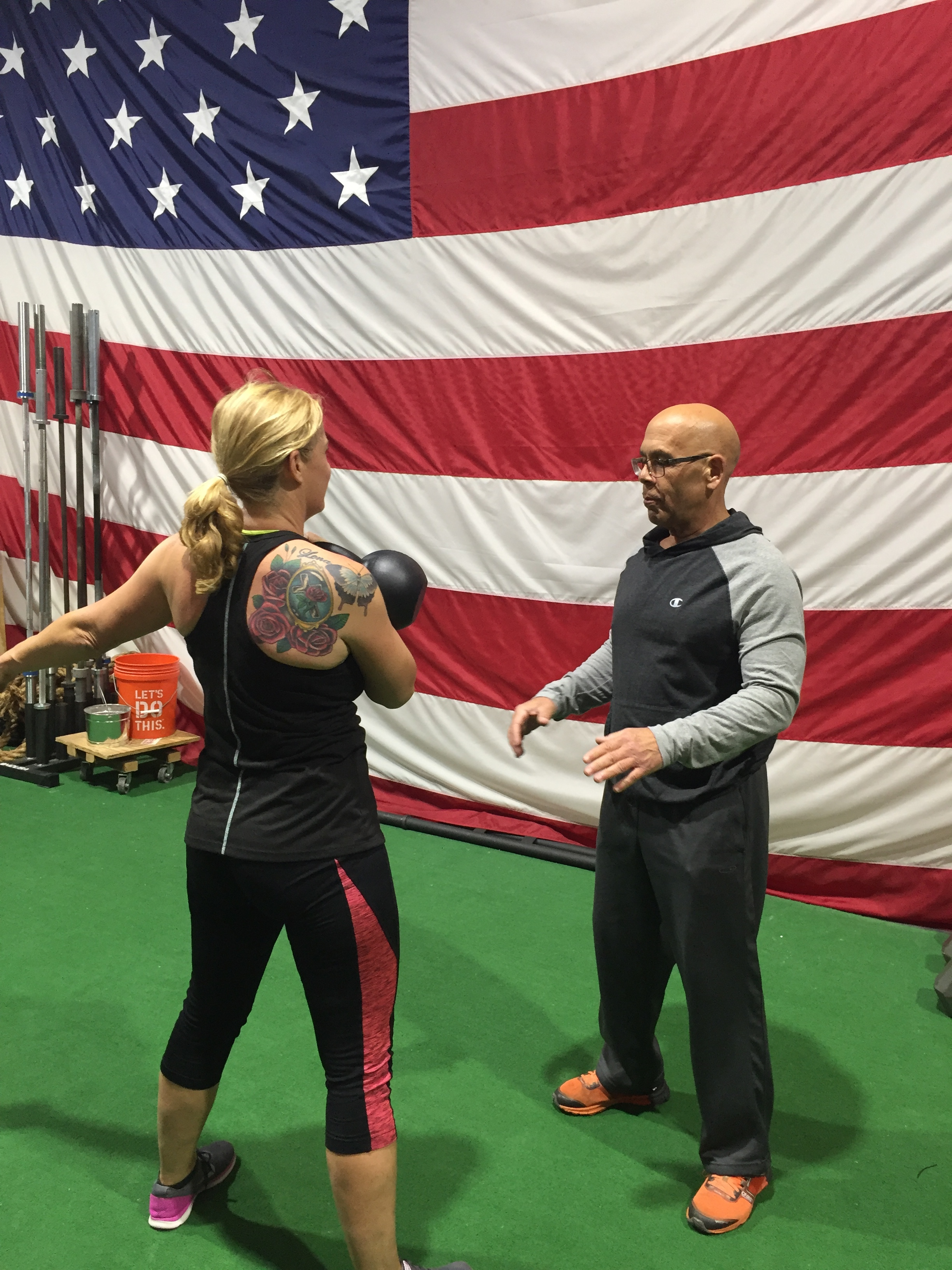 Donald instructing member Karen DiPalo
