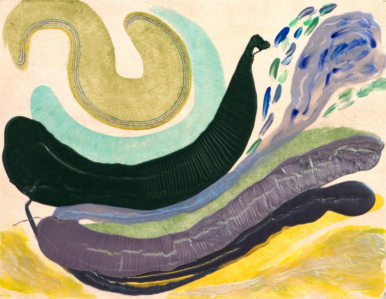 """PEACOCK 2010, A crylic on Canvas, 31"""" x 40"""""""