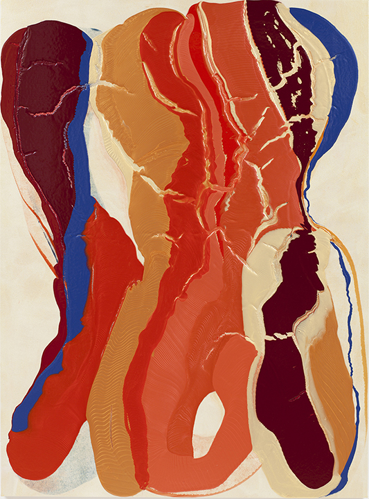 "SILK ROAD P3, 2011, A crylic on Canvas, 75.5"" x 56"""