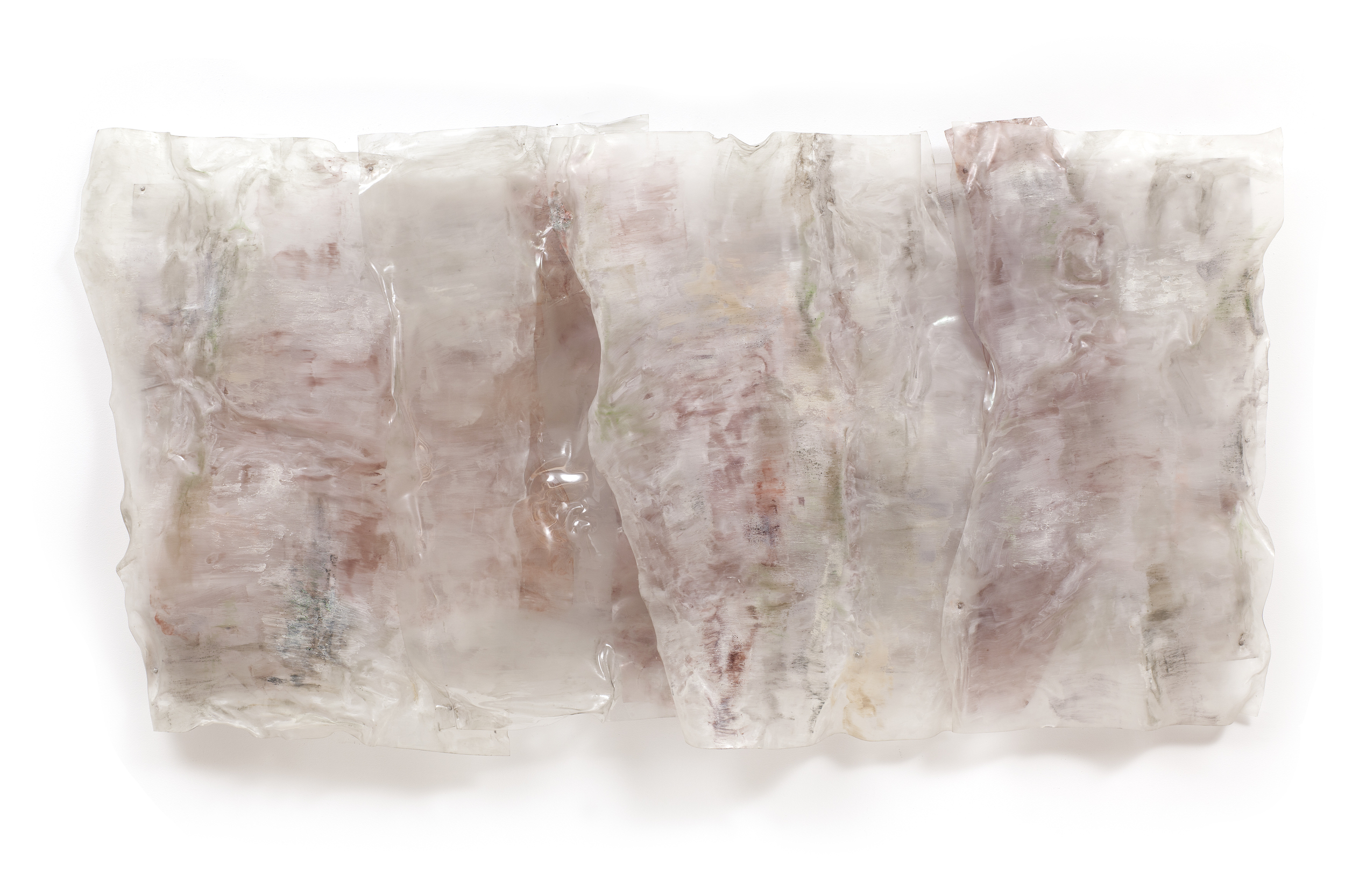 "STRATA, 1988, Acrylic on Lexan, 48"" x 96"" x 10"""