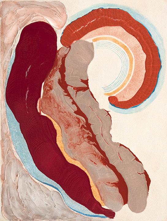 "WAVE THEOREM, 2010, A crylic on Canvas, 42"" x 32"""