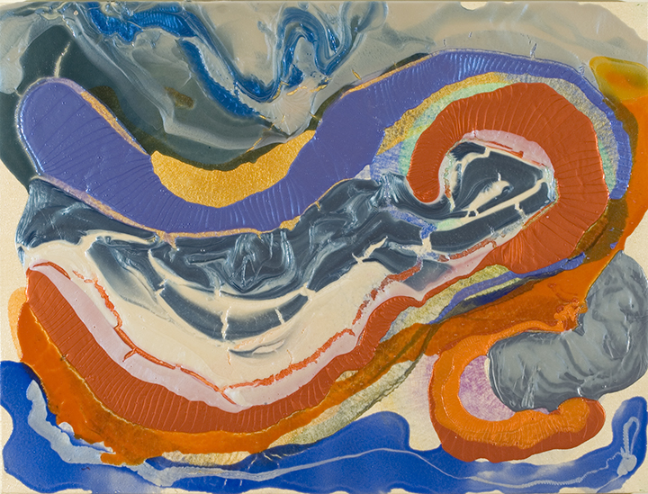 """TWO MOLLUSKS, 2007, Acrylic on canvas,30"""" x 40"""""""