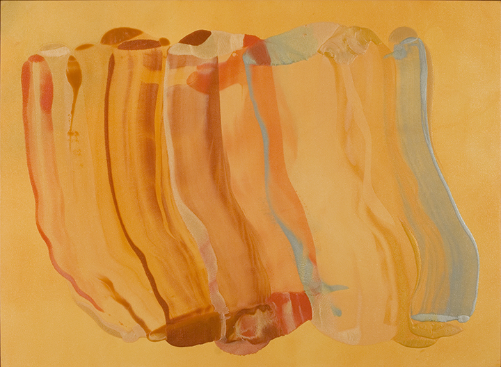 "GOLDEN HOUR, 2007, A crylic on canvas, 48 "" x 72"""