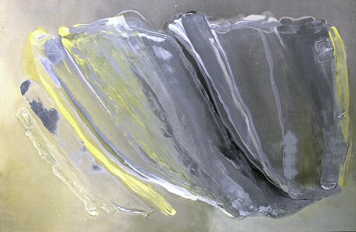 """CANARY, 1983, A crylic on canvas, 52"""" x 79.5"""""""
