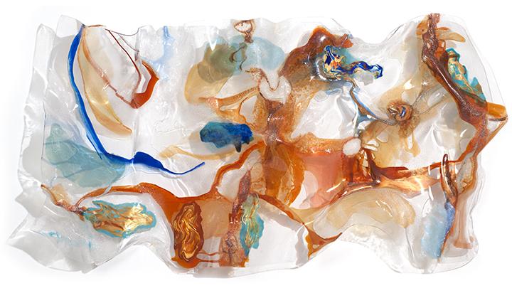 """SEA OF CONSCIOUSNESS, 2006, A crylic on Lexan, 36"""" x 72"""" x 10"""""""