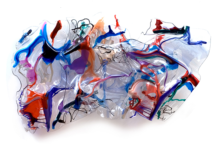 "WIRED, 2011, A crylic on Lexan,  34"" x 56"" x 8"""