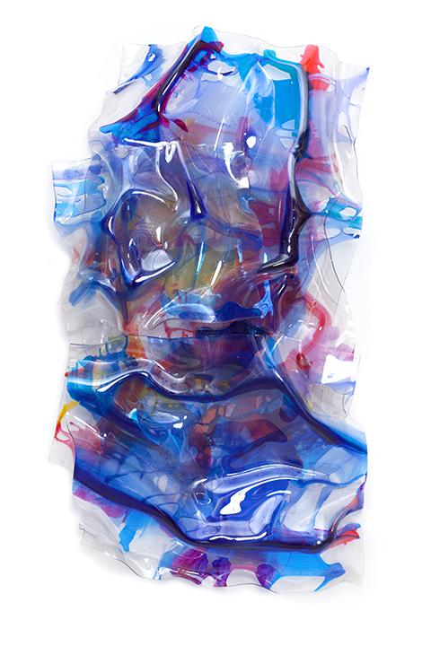 """DECEMBER TWILIGHT, 2013, Acrylic on Lexan, 60"""" x 32"""" x 8"""""""
