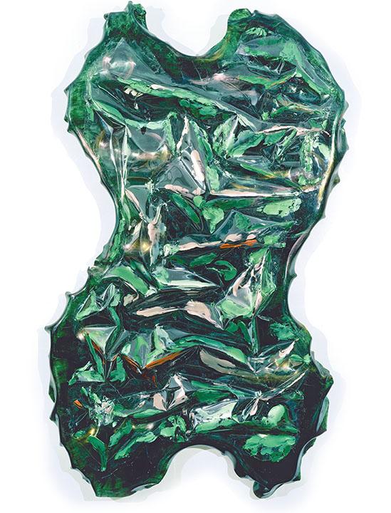 "ANU, 1997, Acrylic on Lexan,96"" x 60"" x 12"""