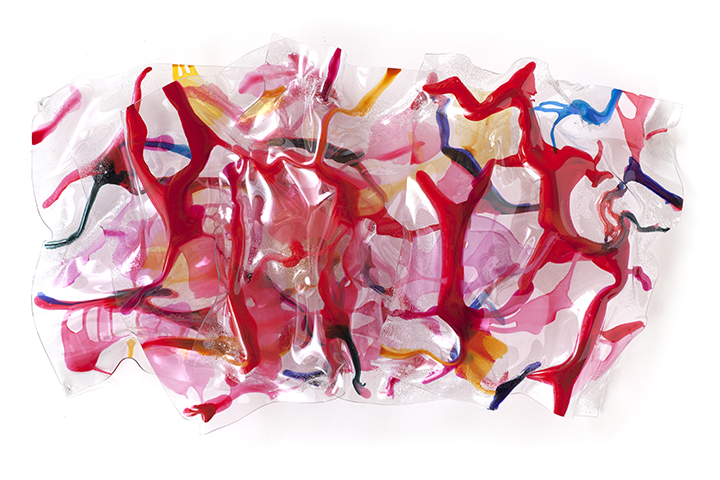 "RED HOT CHERRY, 2012, Acrylic on Lexan, 34"" x 63"" x 10"""