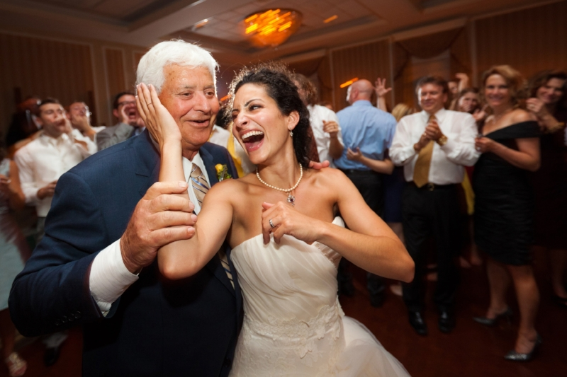 Nonno and me at my wedding. He LOVED to dance!