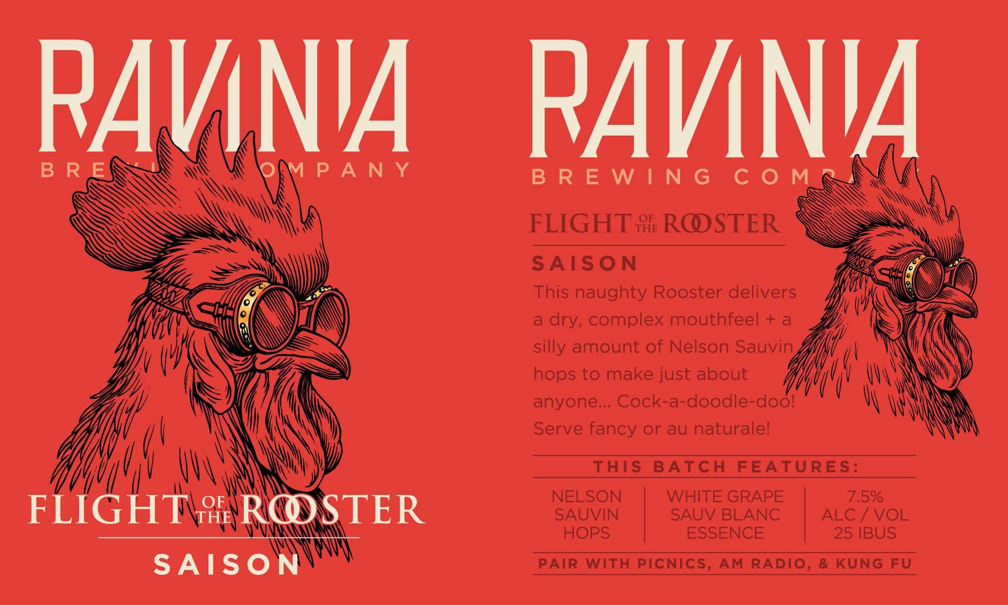 Ravinia Brewing_Poster_Flight Rooster Saison.jpg